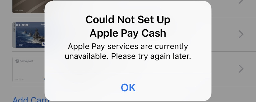 Apple Pay cash not working - Apple Community