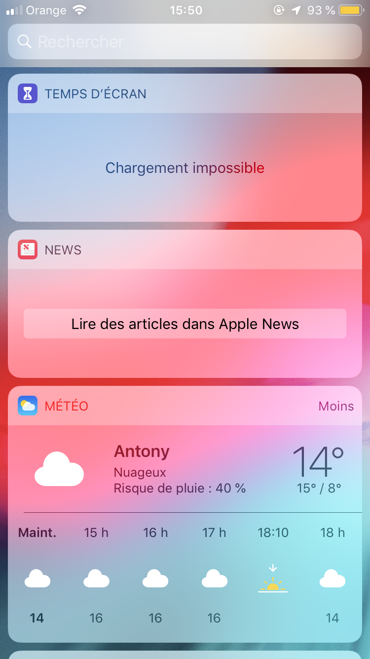 News Widget Doesn T Display Content Apple Community