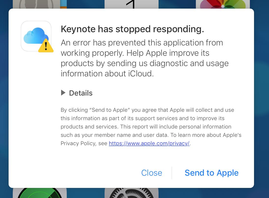 Oh dear    Keynote has stopped responding… - Apple Community