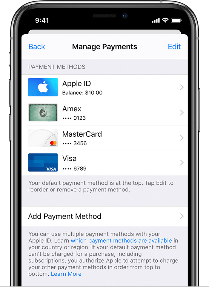 How do you change or add credit card info… - Apple Community