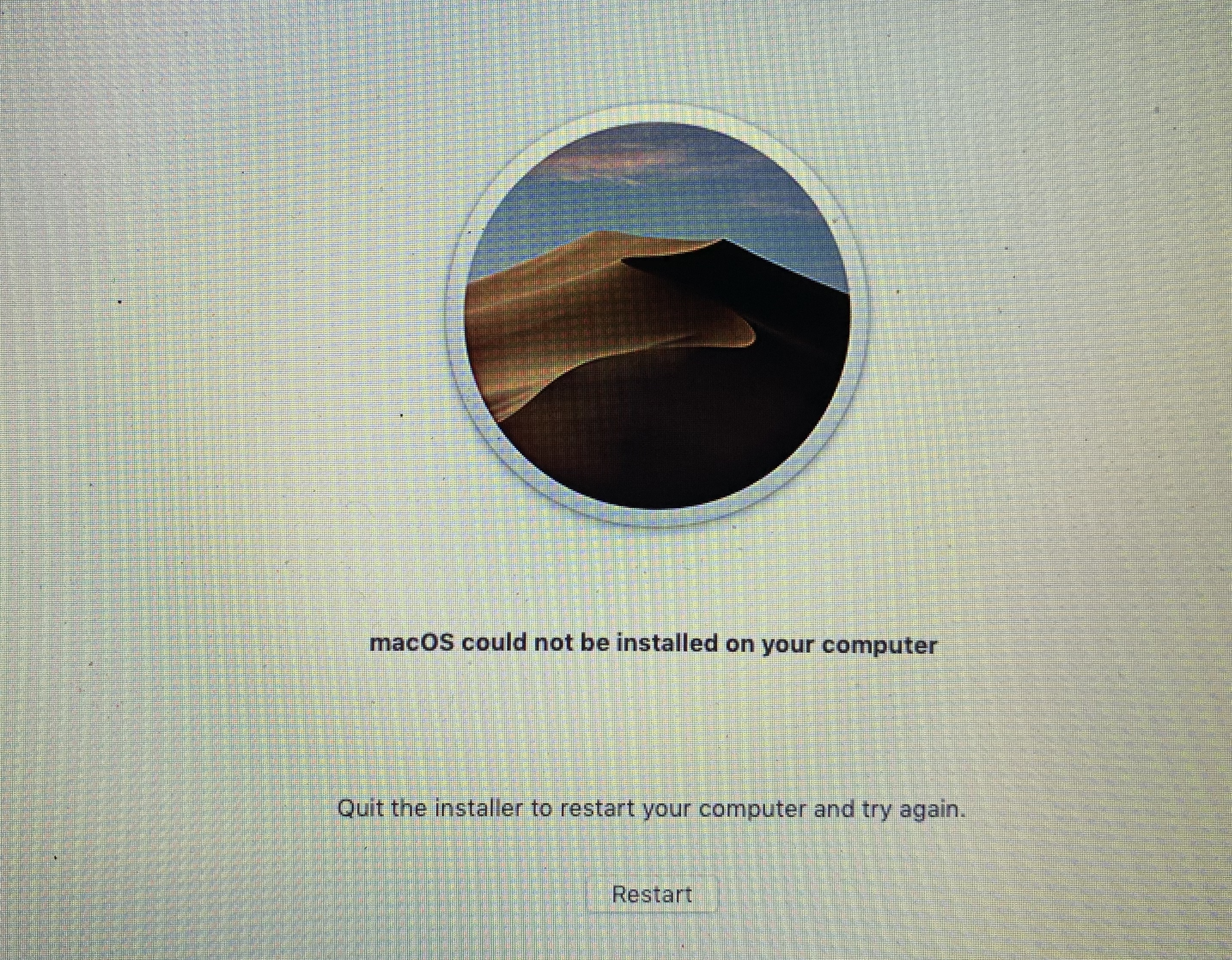MacOS could not be installed on your com… - Apple Community