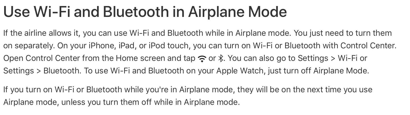 Ios 11 4 1 Airplane Mode Apple Community
