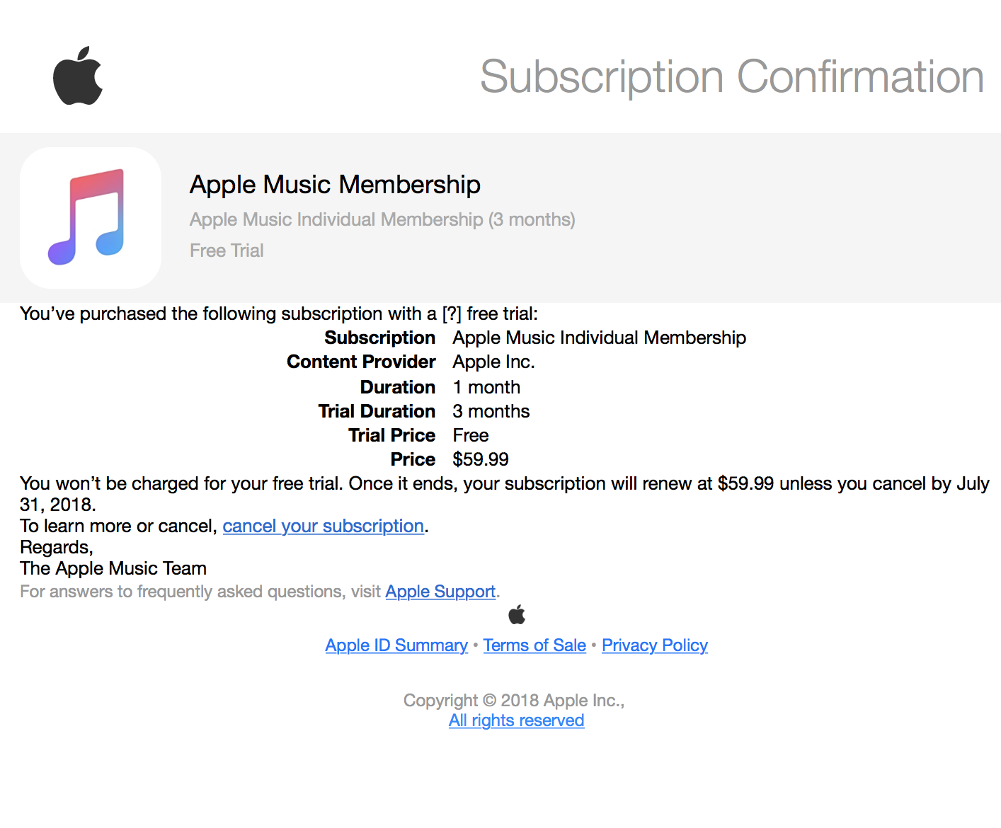 is this an apple music email scam? - Apple Community