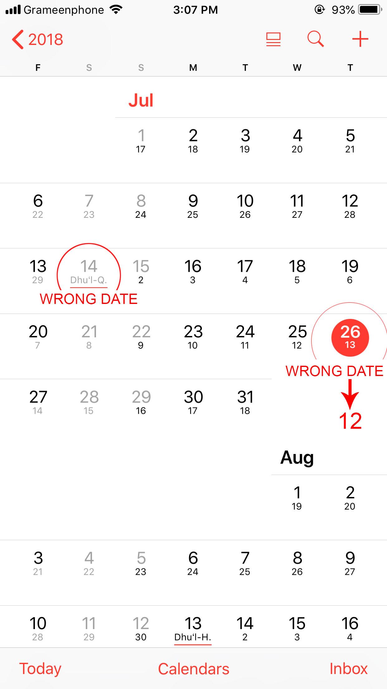 islamic date