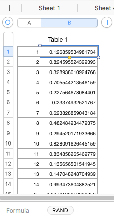 RANDBETWEEN(1,100) but not duplicate? - Apple Community