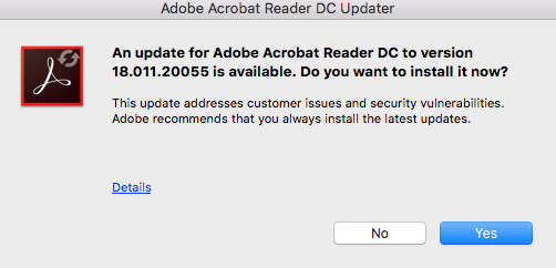 Why is Adobe Acrobat Updater in my dock? - Apple Community