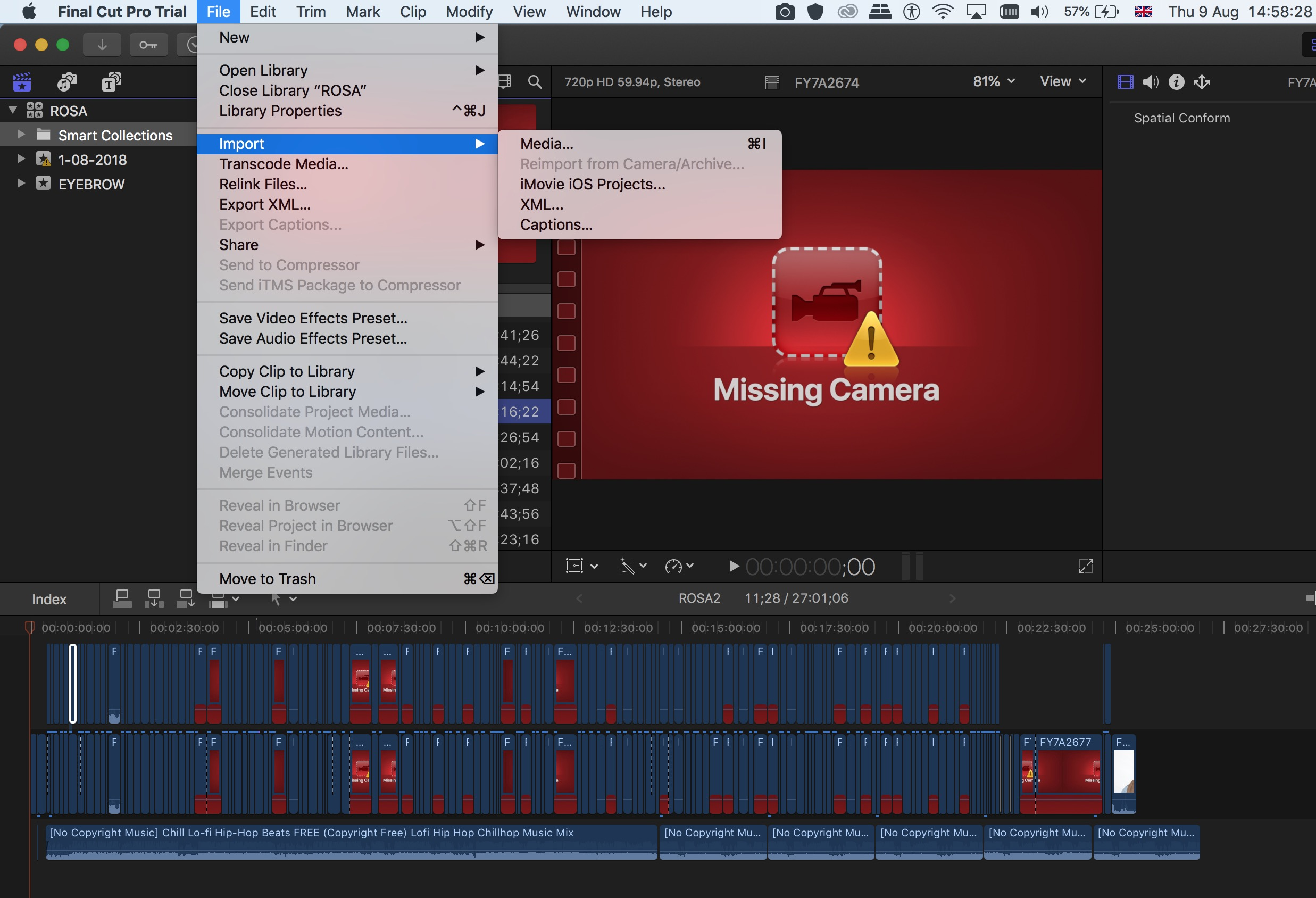 I can't relink/relocate files on FCPX - Apple Community