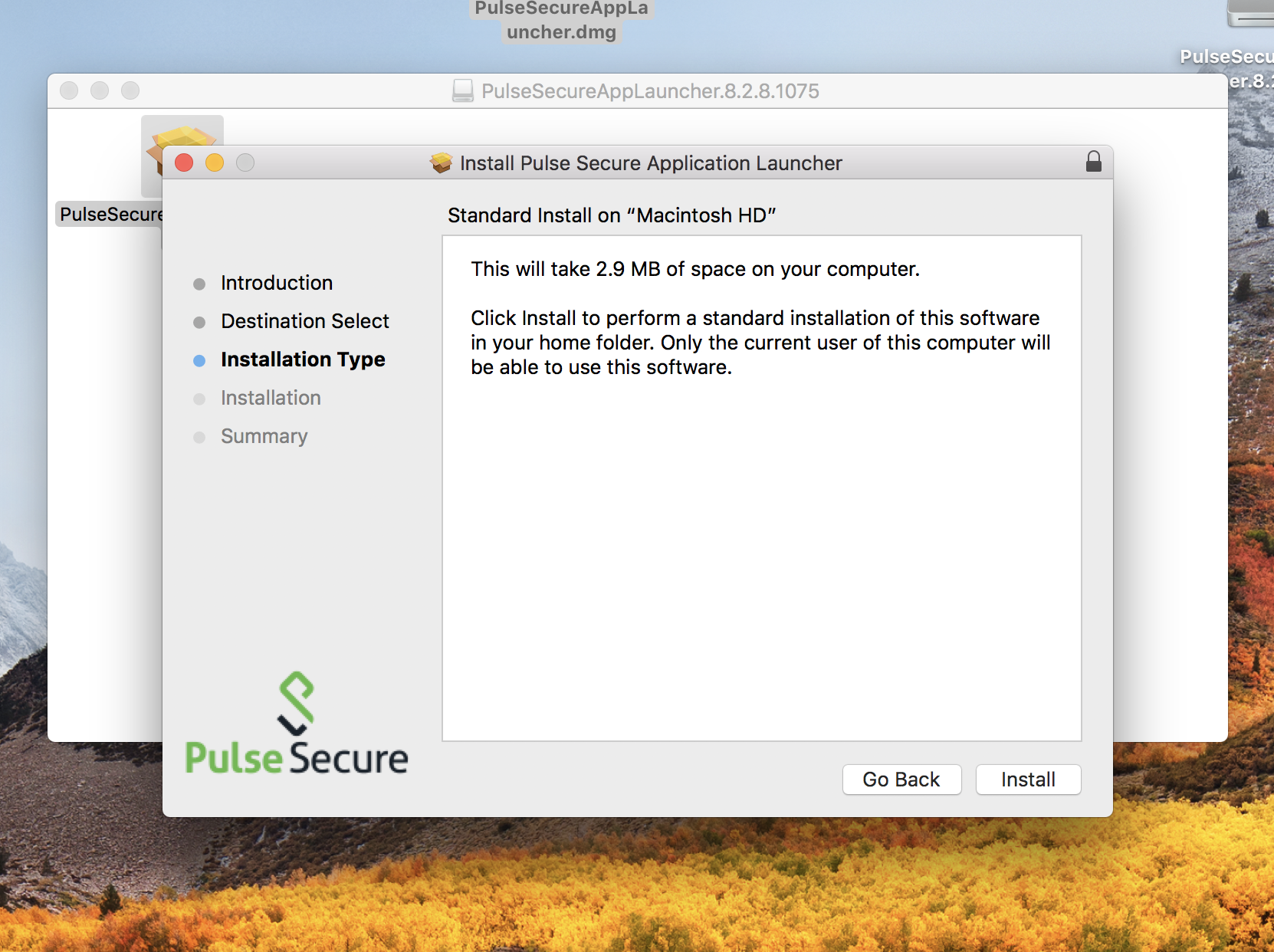 Trouble installing Pulse Secure applicati… - Apple Community
