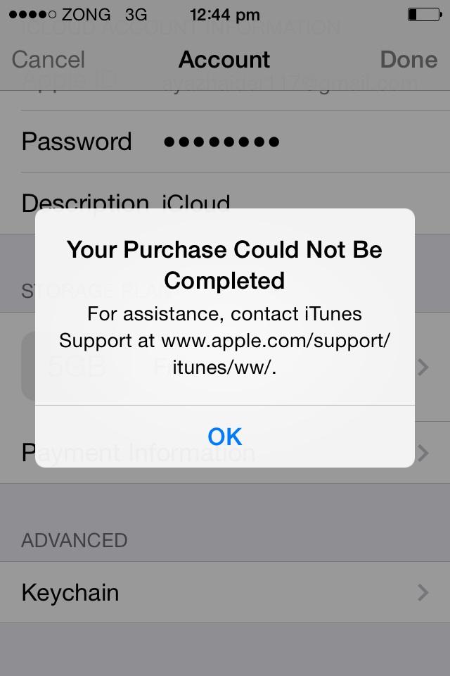 iPhone 4   Payment method error - Apple Community