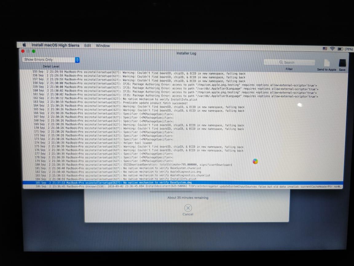 Installation stuck for macOS High Sierra - Apple Community