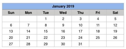 2019 Calendar Templates - Apple Community