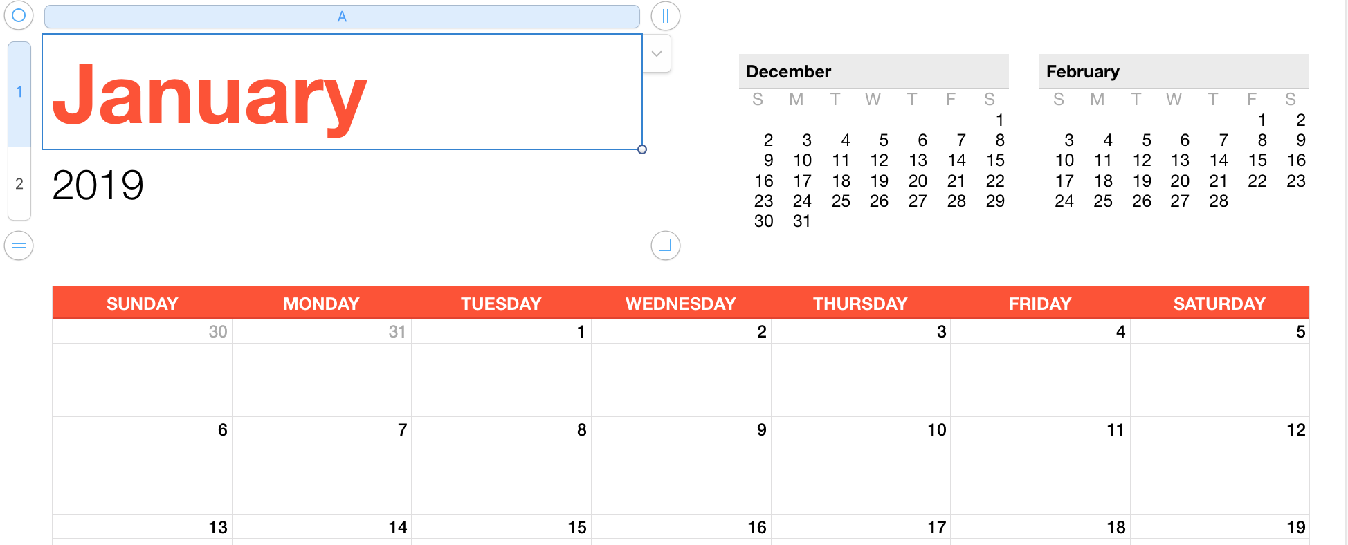 image regarding Calendar Template for Pages named 2019 Calendar Templates - Apple Neighborhood