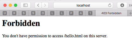 http://localhost -> 403 forbidden - Apple Community