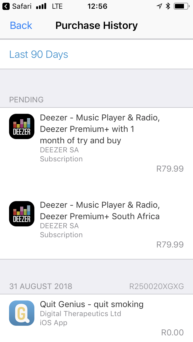 Charged twice for one subscription- Deezer - Apple Community