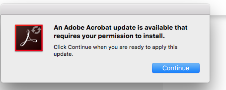 Why can't I get Adobe Acrobat Updater… - Apple Community