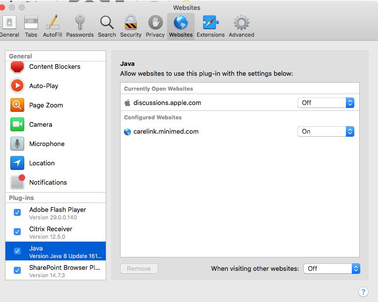 Java plug-in no longer in Safari 12 0 - Apple Community