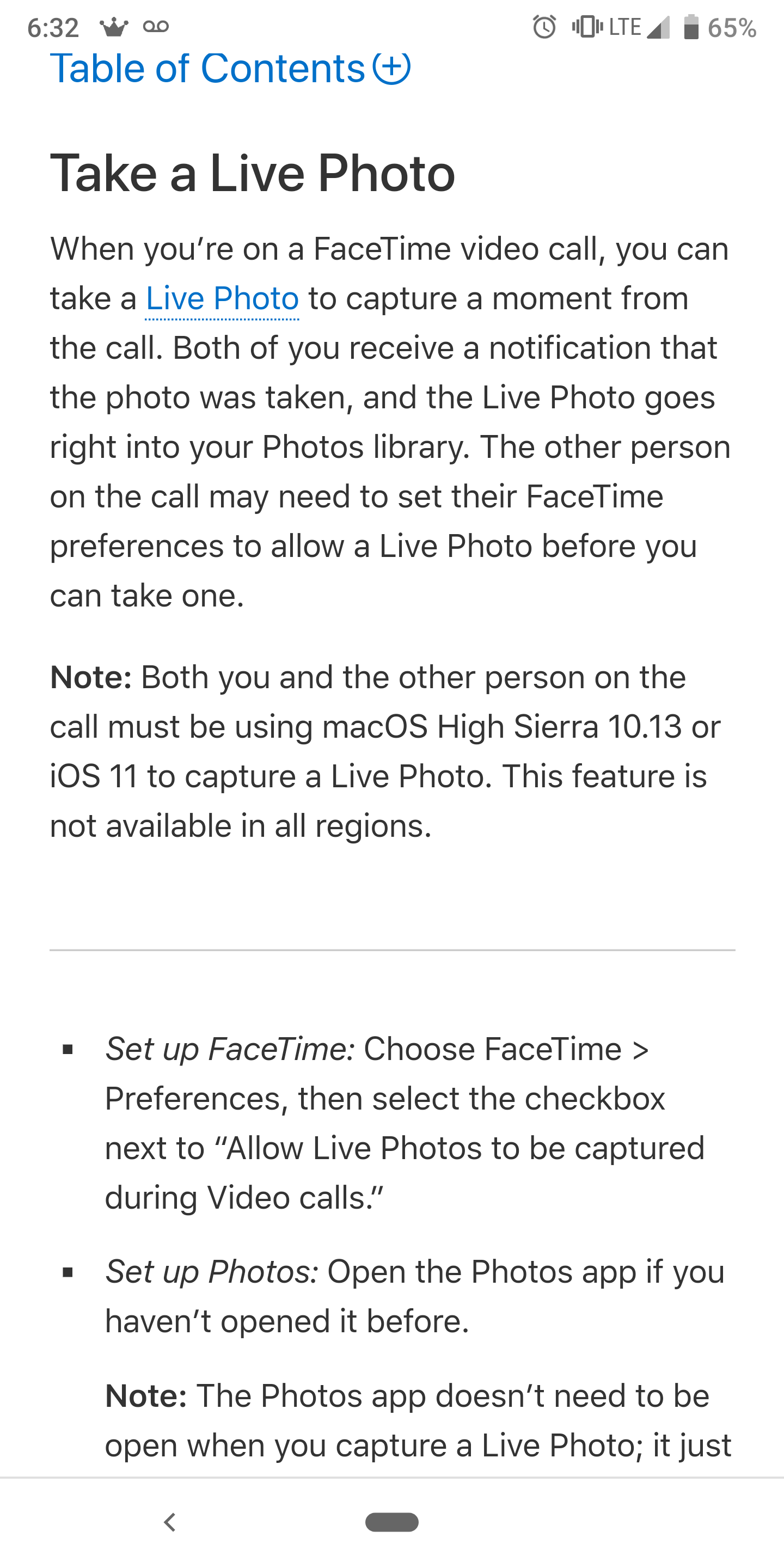 how to turn on facetime live photos on iphone xs max