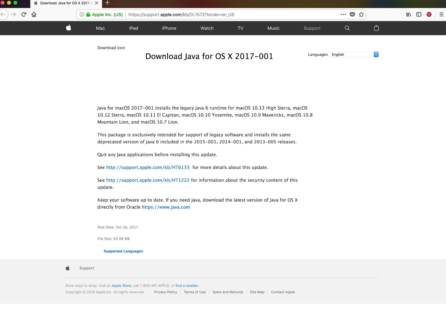 Java For Mac Os High Sierra Download