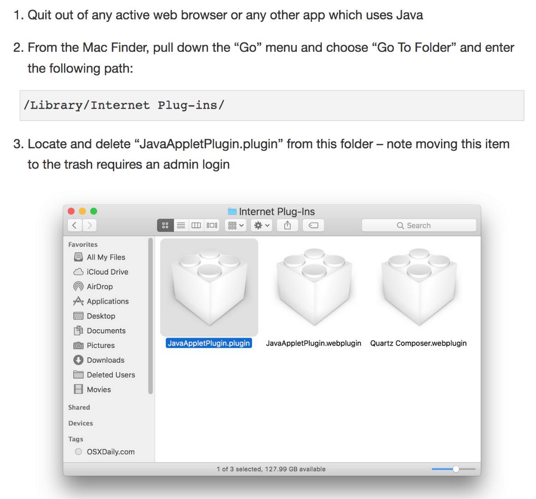 java 6 browser plugin mac