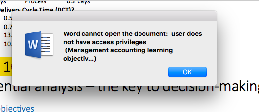 Word has insufficient memory  Do you… - Apple Community