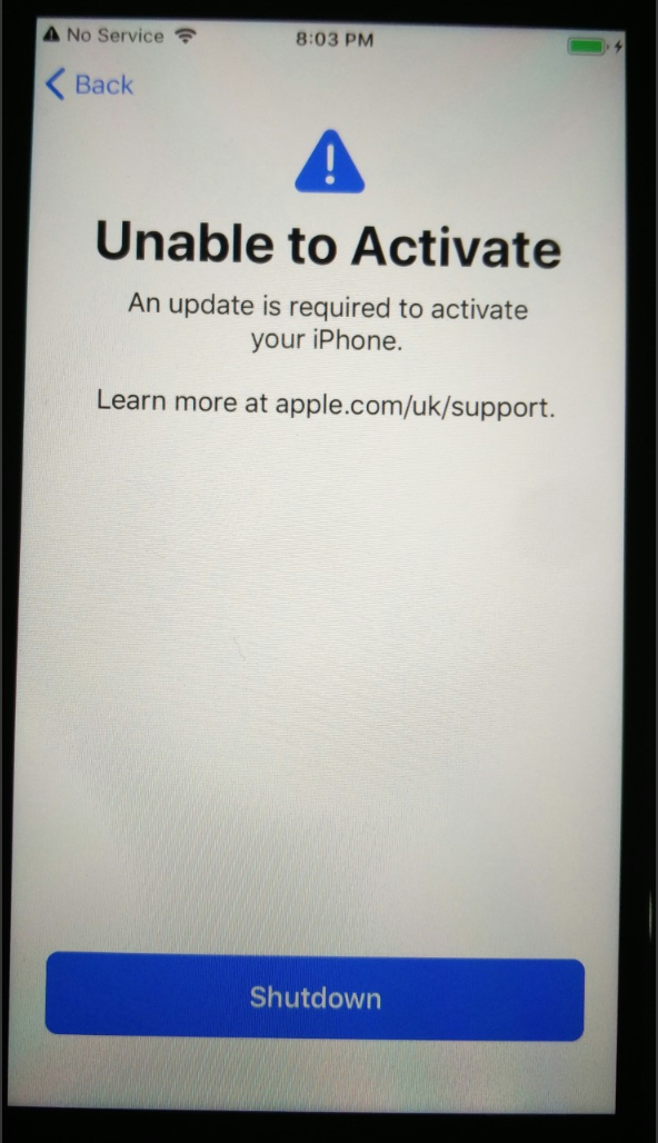 Unable To Activate iPhone 7 - Apple Community