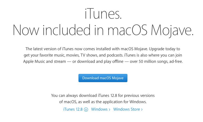 iTunes 12 6x on Mojave? - Apple Community