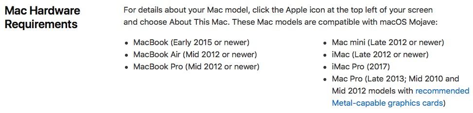Mojave Update  MacBook Pro early 2011  - Apple Community