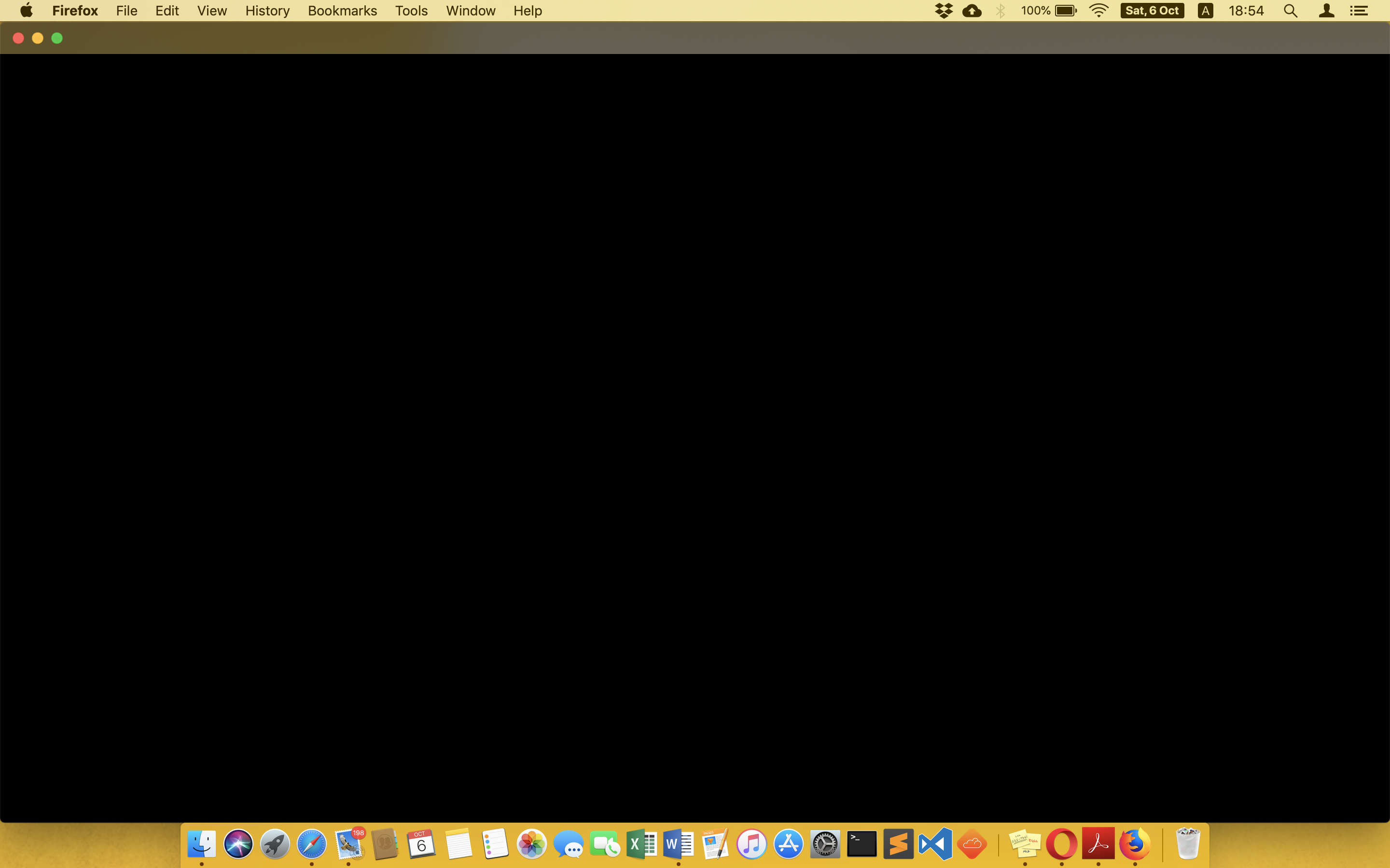 Firefox showing black screen after Mojave… - Apple Community