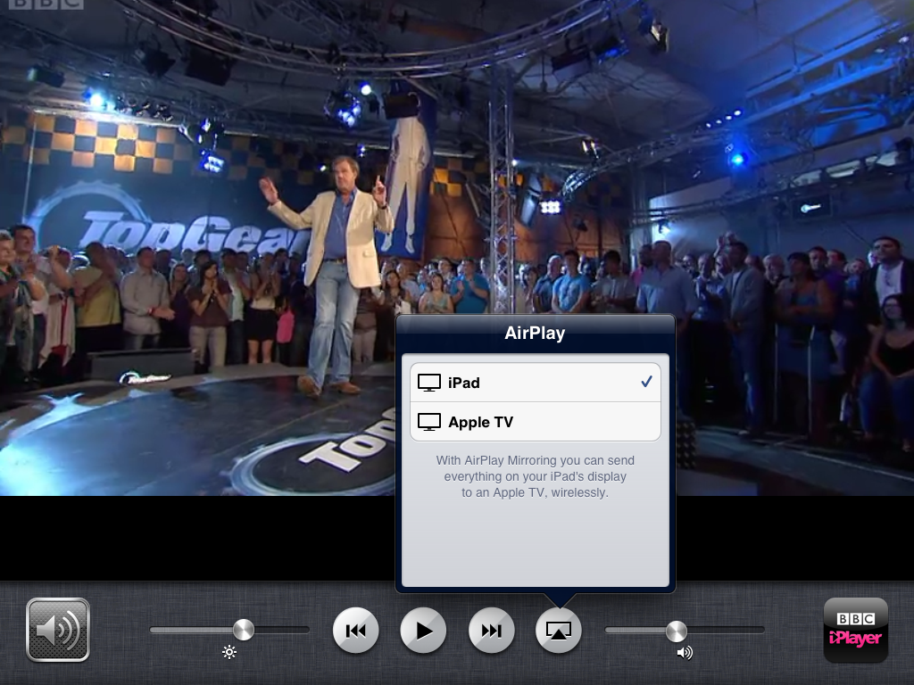 BBC iPlayer via IPad and AirPlay issue - Apple Community