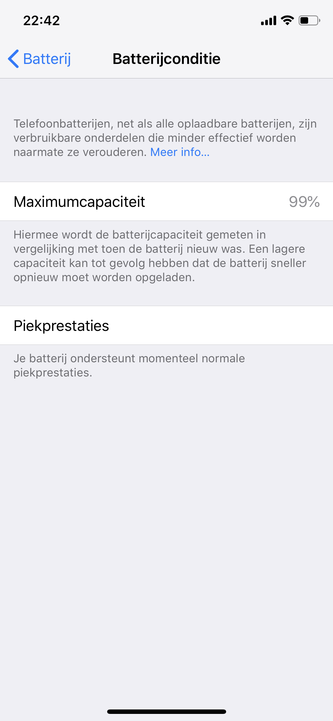 iPhone XS Battery health 99% normal? - Apple Community