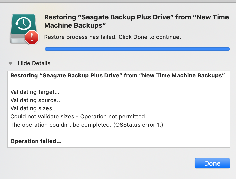 Copying Time Machine to a new disk - Rest… - Apple Community