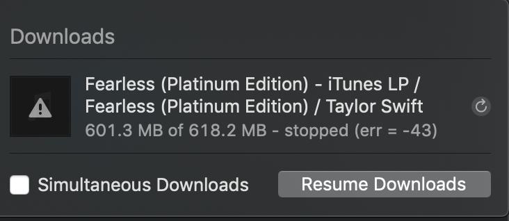 Err = 8288 - Apple Community