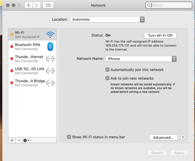 Self Assigned Ip Address Mac