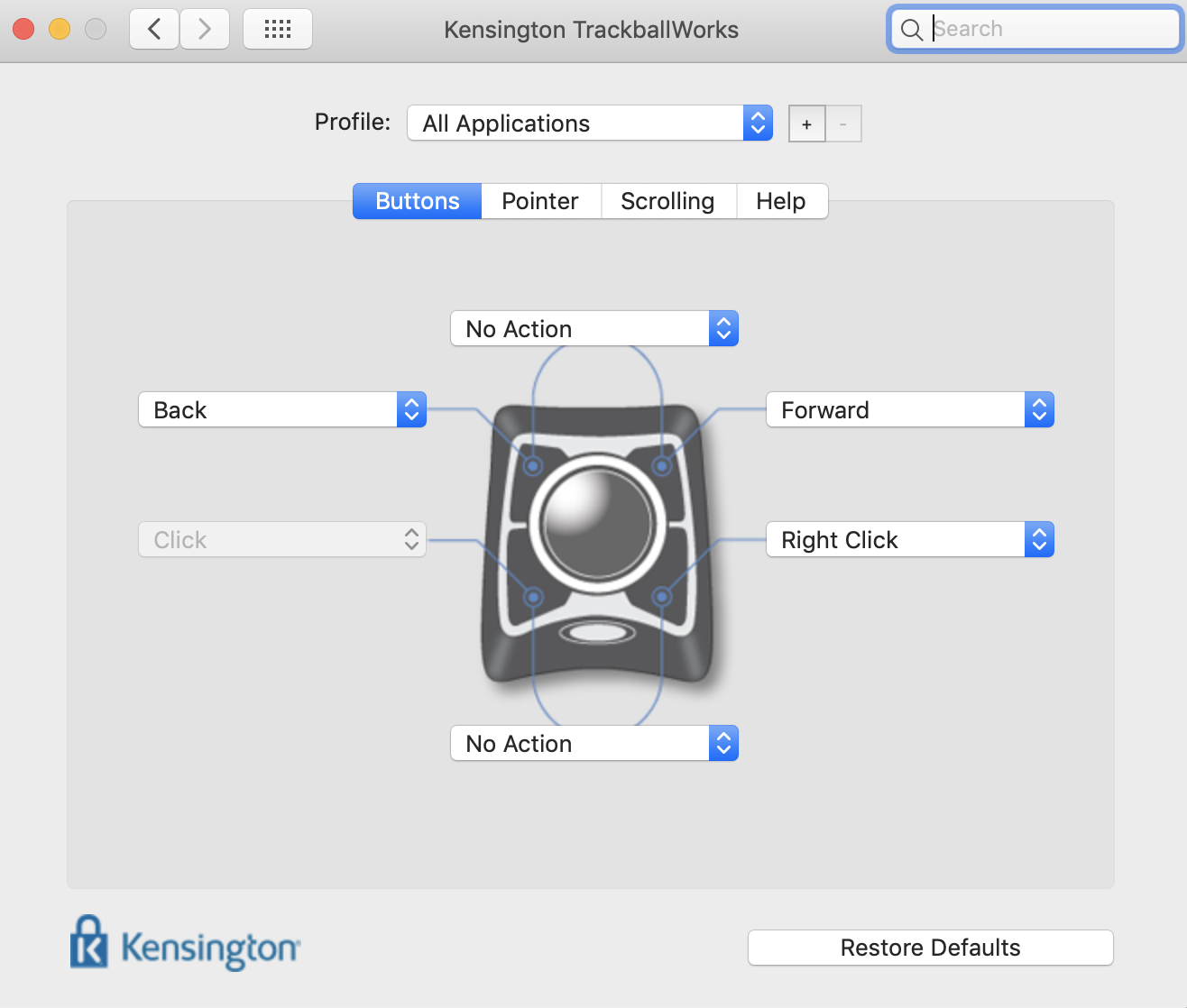 kensington mouse driver for mac