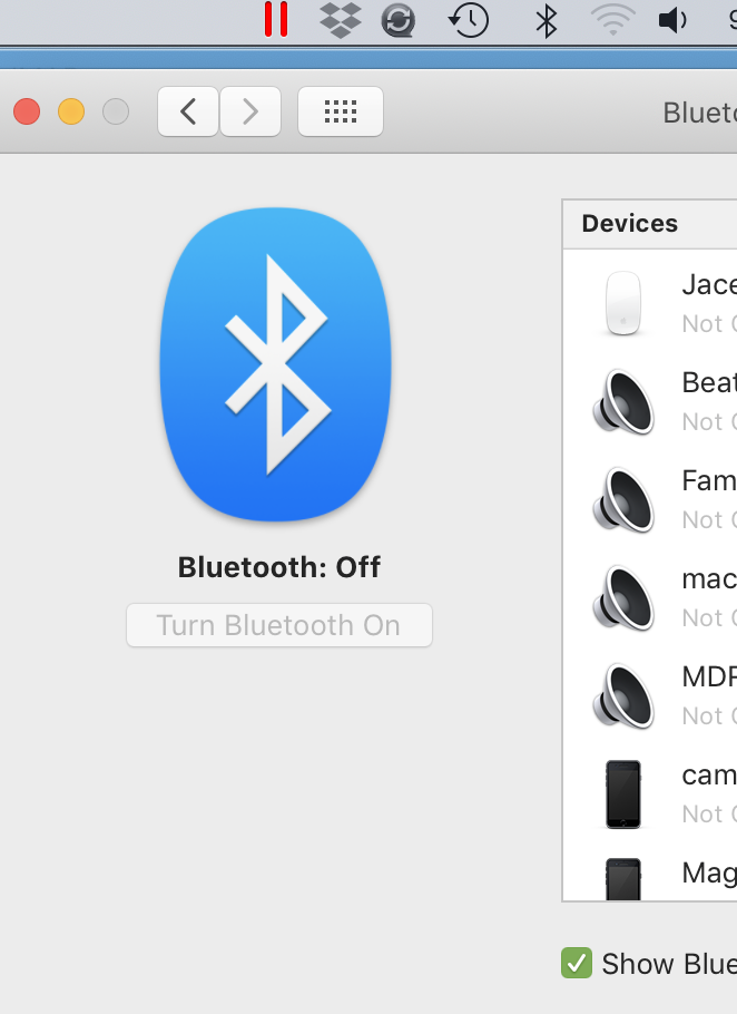 bluetooth on but off - Apple Community