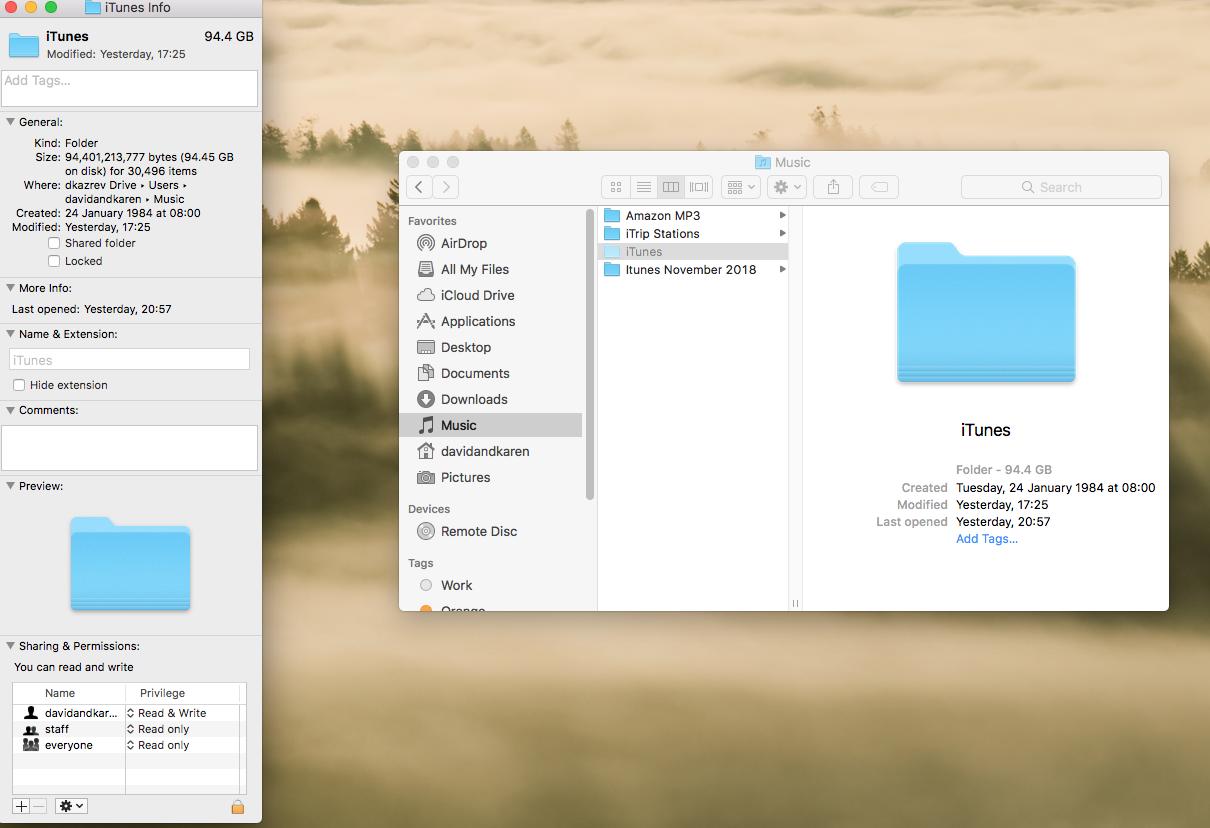 Itunes folder greyed out - Apple Community