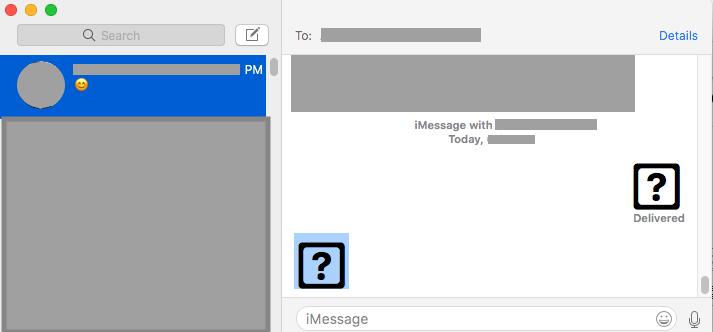 Question Mark Instead Of Emoji In macOS M… - Apple Community