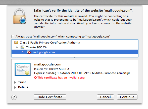Invalid Certificate on every secured webs… - Apple Community