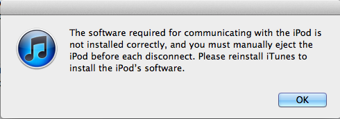 The Best The Software Required For Communicating With Ipods Is Not Installed Correctly  PNG