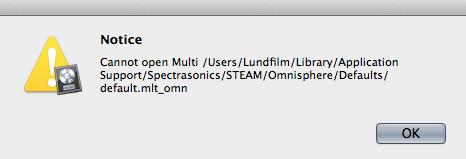 Instantiating omnisphere - Apple Community