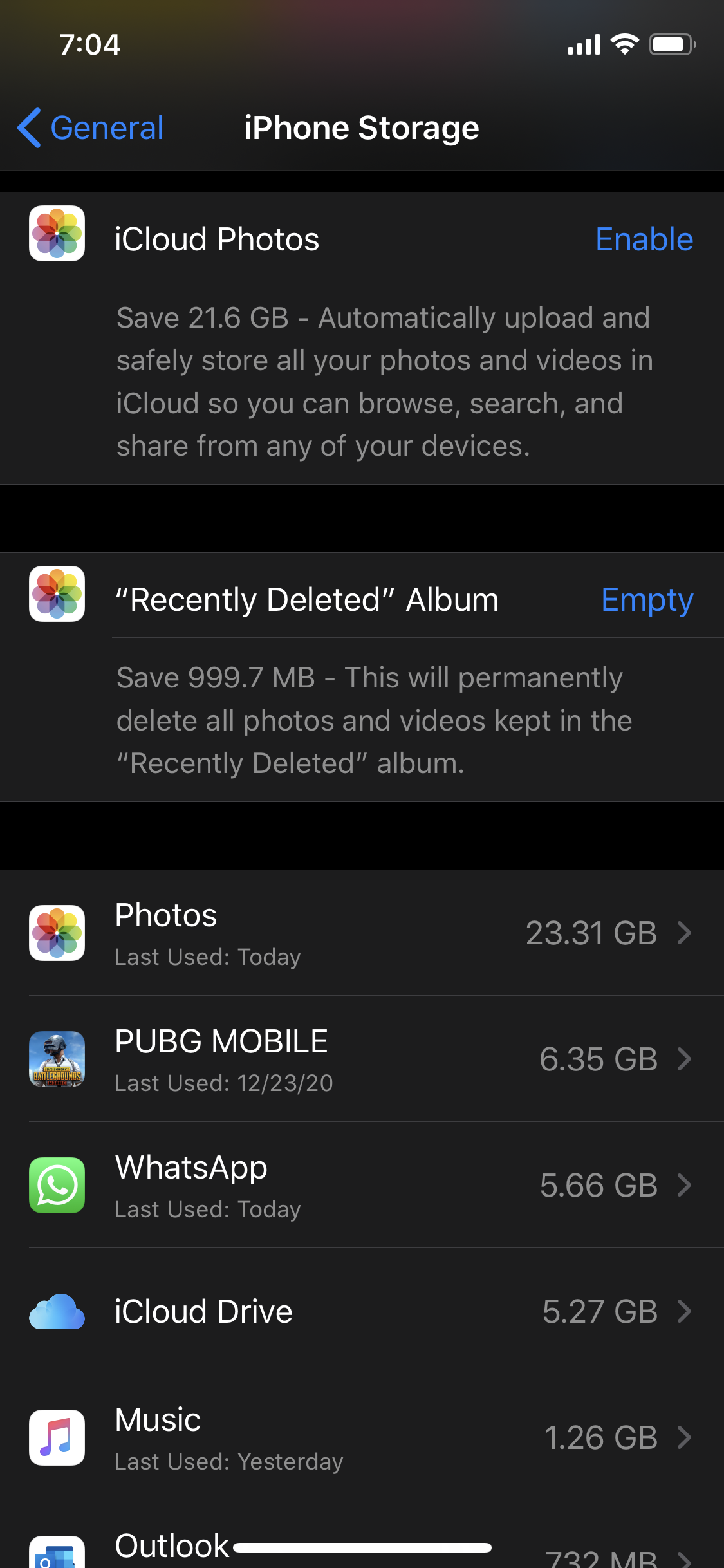 How to clear memory on my phone screen