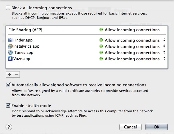 Vuze incoming network connections alert o… - Apple Community