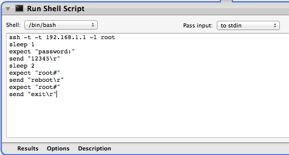 Applescript to ssh into router and reboot - Apple Community