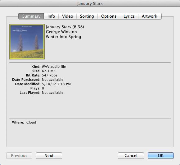 itunes match download format