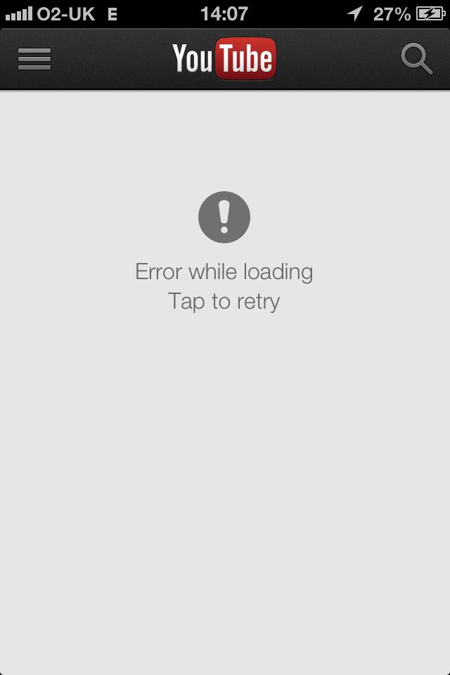 YouTube app not working on iOS 6 0 1 - Apple Community
