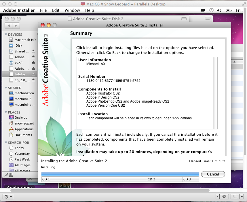 Adobe CS2 installation on new Mac Book Re… - Apple Community