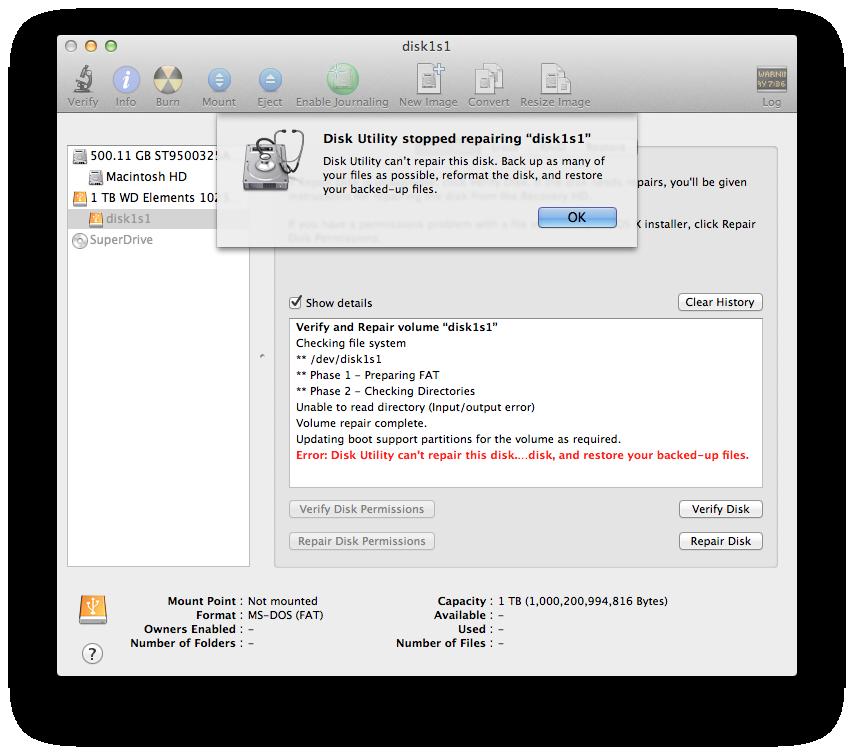 Suddenly my 1 TB Western Digital external… - Apple Community