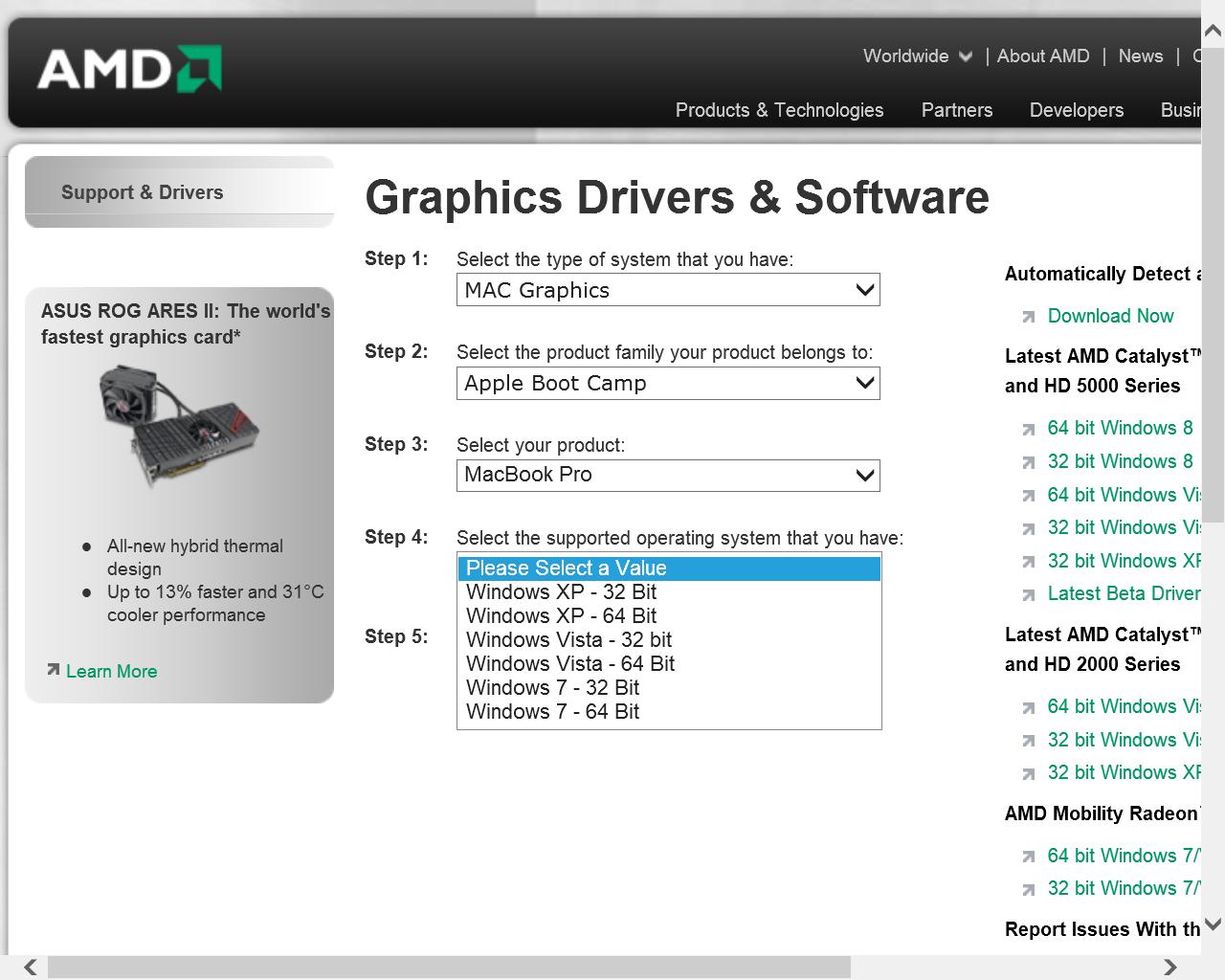 Graphics Switching in Windows 7 - Macbook… - Apple Community
