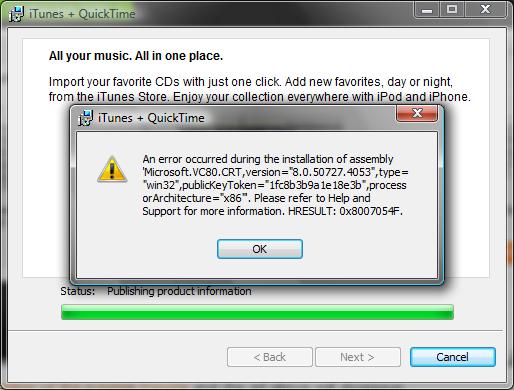 iTunes won't install! - Apple Community