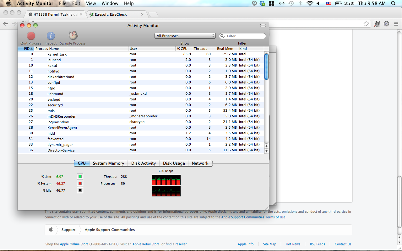 Kernel_Task is using up 85% of my CPU, an… - Apple Community
